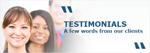 TESTIMONIALS - A few words from our clients
